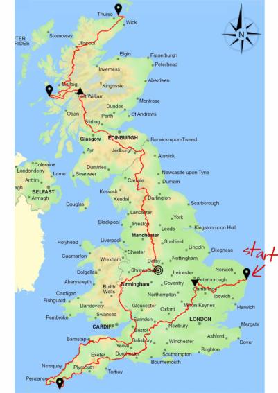 british mainland route map