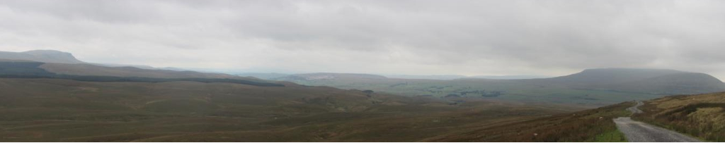 Pen-Y-Ghent and Ingleborough from Cam Fell