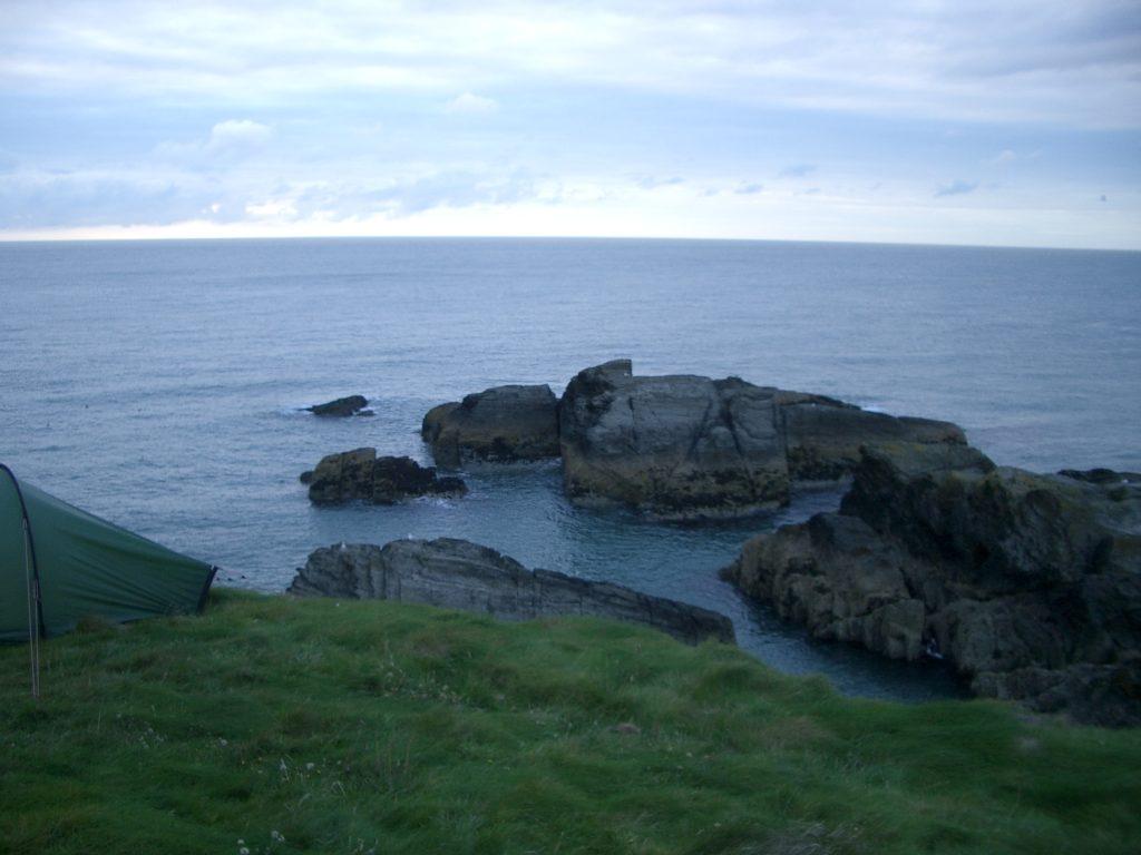 wild camping cardigan coast wales