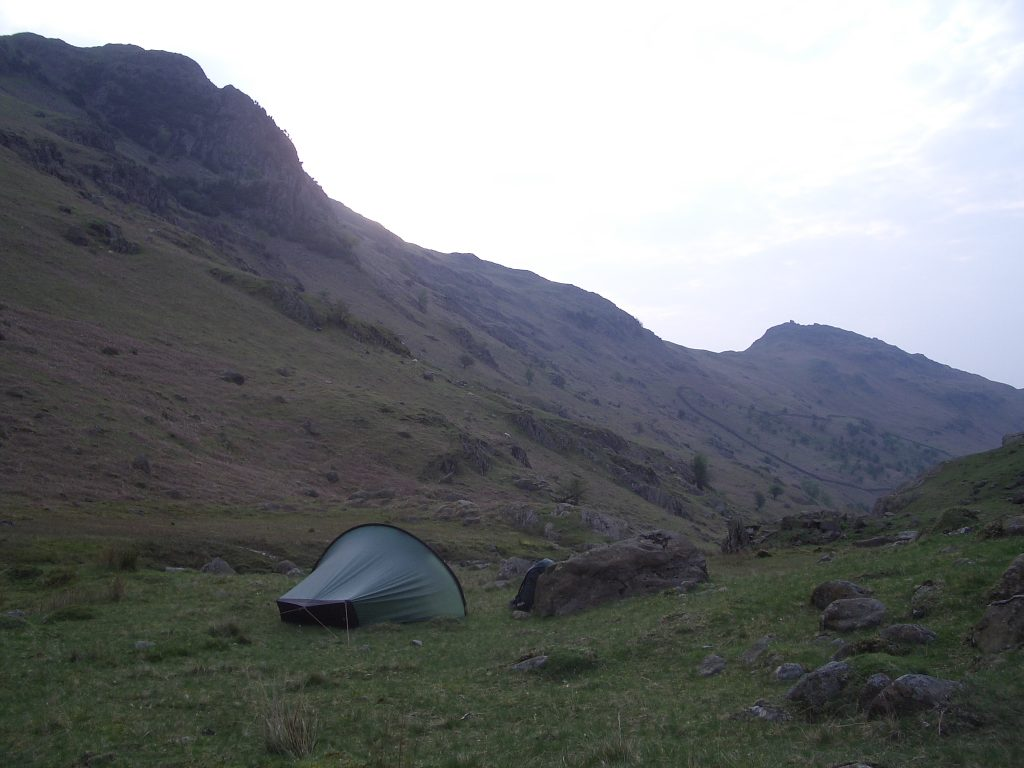 wild camping lake district england