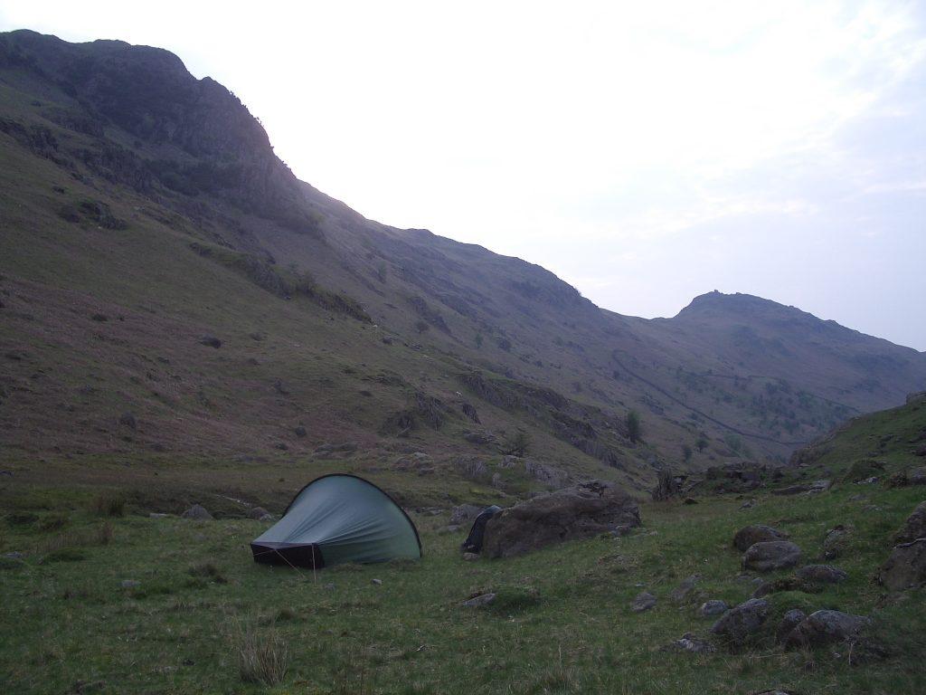 wild camping lake district england