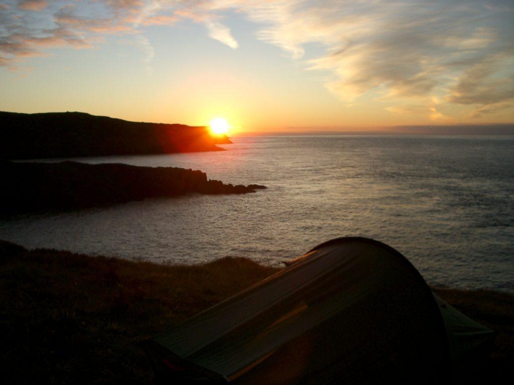 wild camping pembrokeshire coast path wales