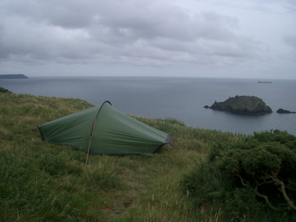 wild camping south west coast path england