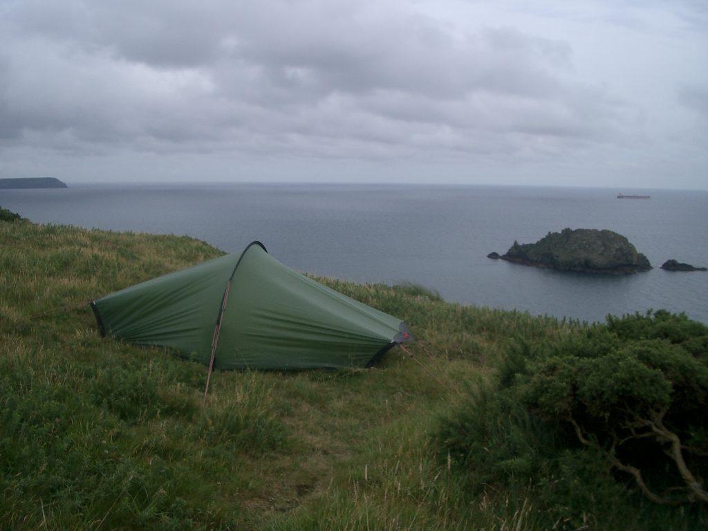wild camping south west coast path england